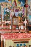 Altare in chiesa cristiana ortodossa a Gerusalemme, Israele Fotografie Stock