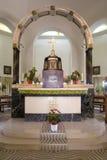 Altare in chiesa della chiesa delle beatitudini in Tabgha Immagine Stock Libera da Diritti
