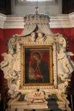 Altare in chiesa della nostra signora delle rocce, Perast Fotografia Stock Libera da Diritti