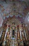 Altare in chiesa della nostra signora di neve in Kamensko, Croazia Fotografie Stock