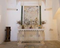 Altare, chiesa di San Nicola da Myra, Locorotondo, Italia Fotografia Stock