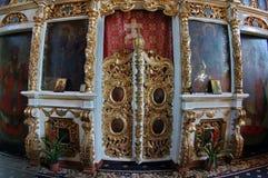 Altare in chiesa ortodossa Fotografia Stock