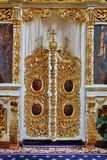 Altare in chiesa ortodossa Fotografia Stock Libera da Diritti