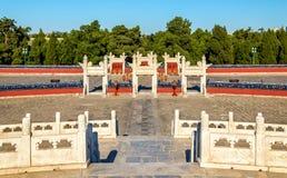 Altare circolare del monticello al tempio del cielo a Pechino Fotografie Stock Libere da Diritti