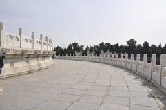 Altare circolare del monticello dal tempio del cielo a Pechino fotografia stock libera da diritti