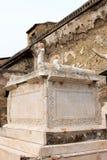 Altare commemorativo in Roman Herculaneum antico, Italia Fotografia Stock Libera da Diritti