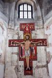Altare con Gesù in chiesa ortodossa Immagini Stock Libere da Diritti