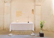 Altare con l'incrocio Fotografia Stock Libera da Diritti