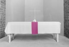 Altare con l'incrocio Fotografie Stock