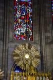 Altare con l'ospite consacrato in chiesa cattolica a Guadalajara, m. Fotografia Stock
