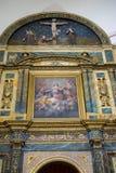 Altare con le immagini dell'oro Settimana santa in Spagna, immagini dei vergini Fotografia Stock Libera da Diritti