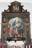 Altare con una vecchia pittura Fotografie Stock Libere da Diritti