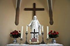 Altare cristiano con jesus Fotografia Stock Libera da Diritti