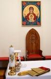 Altare cristiano svedese Fotografia Stock