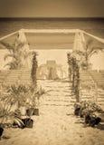 Altare d'annata di nozze Fotografia Stock Libera da Diritti