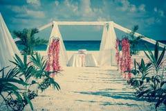 Altare d'annata di nozze Fotografia Stock