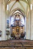 Altare dal 1697 all'interno della cattedrale di Erfurt Fotografia Stock