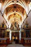 Altare decorato in monastero di San Pedro de Cardena a Burgos, Spagna Fotografia Stock