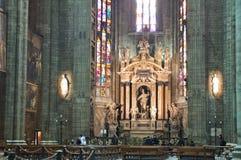 Altare dei Di Milano del duomo Fotografia Stock