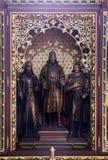 Altare dei san Stephen, Ladislav e Emeric nella cattedrale di Zagabria Immagine Stock Libera da Diritti