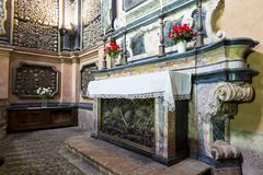 Altare del alle Ossa di San Bernardino Fotografia Stock Libera da Diritti