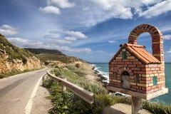 Altare del bordo della strada in Grecia Fotografia Stock
