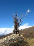 Altare del bordo della strada nel Tibet Fotografie Stock