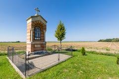 Altare del bordo della strada vicino al villaggio Voderady Fotografie Stock Libere da Diritti