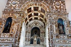 Altare del convento di San Francisco Fotografia Stock