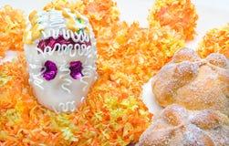 Altare del cranio dello zucchero per & x22; Dia de los Muertos& x22; Immagine Stock