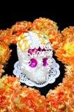 Altare del cranio dello zucchero per & x22; Dia de los Muertos& x22; Immagini Stock Libere da Diritti