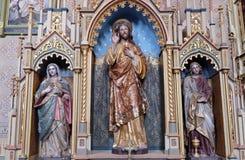 Altare del cuore sacro di Gesù nella chiesa di St Matthew in Stitar, Croazia Immagine Stock Libera da Diritti