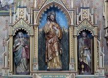 Altare del cuore sacro di Gesù nella chiesa di St Matthew in Stitar, Croazia Fotografia Stock Libera da Diritti