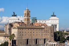 Altare del della Patria di Altare di patria a Roma Fotografie Stock Libere da Diritti