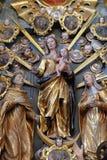 Altare del rosario santo nella chiesa della nostra signora della neve in Belec, Croazia Fotografia Stock