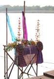 Altare del ` s di festival LOY KRATHONG del ` s della TAILANDIA Fotografia Stock Libera da Diritti