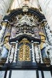 Altare del san Nicholas Church a Gand, Belgio Fotografie Stock Libere da Diritti