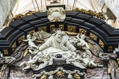 Altare del san Nicholas Church a Gand, Belgio Fotografia Stock
