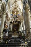 Altare del san Nicholas Church a Gand, Belgio Fotografie Stock