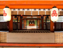 Altare del santuario di Itsukushima, Miyajima Fotografie Stock