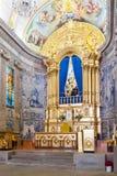 Altare del santuario di sao Bento da Porta Aberta in vista della statua Fotografie Stock Libere da Diritti