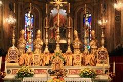 Altare dell'abbazia di Tolentino Immagine Stock Libera da Diritti