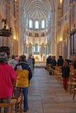 Altare dell'abbazia di Vezelay nella Borgogna Franche Comte in Francia Immagini Stock Libere da Diritti