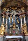 Altare dell'incrocio santo, chiesa di Barmherzigenkirche a Graz Fotografia Stock