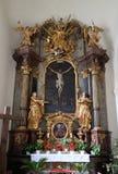 Altare dell'incrocio santo, chiesa di Mariahilf a Graz Immagine Stock
