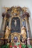 Altare dell'incrocio santo, chiesa di Mariahilf a Graz Fotografia Stock Libera da Diritti