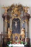 Altare dell'incrocio santo, chiesa di Mariahilf a Graz Immagine Stock Libera da Diritti