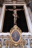 Altare dell'incrocio santo, chiesa francescana dei frati secondari in Ragusa Immagine Stock Libera da Diritti
