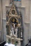 Altare dell'incrocio santo nella cattedrale di Zagabria Fotografia Stock