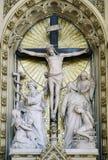 Altare dell'incrocio santo nella cattedrale di Zagabria Fotografia Stock Libera da Diritti